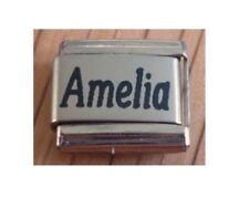 9mm Classic Tamaño Italiano Dijes Nombres-nombre Amelia