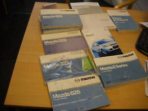 VARIOUS MAZDA OWNERS HAND BOOKS