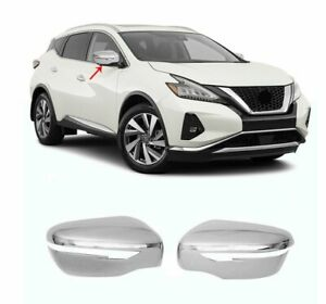 Fit Nissan Murano 2015-2020 Abs Wing Chrome Mirror Cover 2Pcs