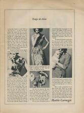 1962 Hattie Carnegie PRINT AD fashion dresses with dogs Pug Poodle Yorkie photo