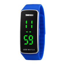 Men Womens Fashion Casual Silicone LED Sport Bracelet Touch Digital Wrist Watch