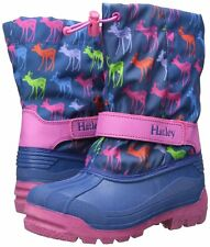 Hatley Winter Snow Boots Size 7 Deer Blue Pink