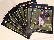 MATT FORTE 2008 Topps ROOKIE Card LOT of 10  RARE Team Set Card RC #11 SP BEARS