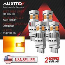 4X AUXITO 3157 3156 LED Turn Signal DRL Parking Light Amber Anti Hyper Flash