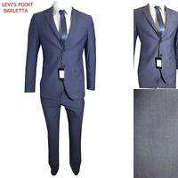 Abito uomo slim fit Vestito Elegante Completo Classico Blu Estivo Cerimonia  46 d2288c21d19