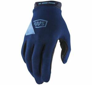 100% Men's Ridecamp Glove Size M Navy