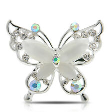 Vintage Women Jewelry Butterfly Gold/Silver Plated Crystal Rhinestone Brooch Pin