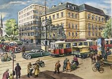 More details for large vintage 50s german school poster rudolph dirr intersection