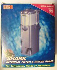 Penn Plax Sand Shark Internal Filter & Water Pump New in Box Pumps 60gph