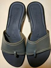 MONTEGO BAY CLUB Leather Collection light Blue Women's Sandals size 8.5