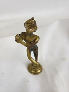 "Nice old indian / Hindu bronze figurine 3 1/2"""