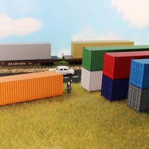 9Stk. 40ft Container Versand Güterwagen Spur H0 Modelleisenbahn Wagen 1:87