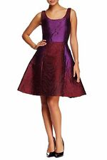 NEW Oscar de la Renta Sleeveless Scoop Neck Silk Blend Dress- Purple 10 $3,190