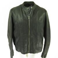 Vintage 70s Brooks Cafe Racer Leather Jacket 52 Black Liner Motorcycle Biker