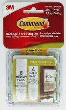Command 4 pair Small & 8 pair Medium Picture Hanging Strips 17203