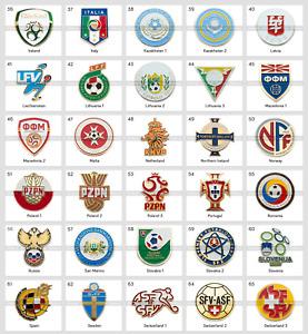 Metal Pin UEFA Union of European Football Associations Federations 2