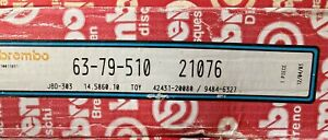 21076 2 Brembo Rear Brake Drums fits Celica Corolla Geo NON Chinese manufactured