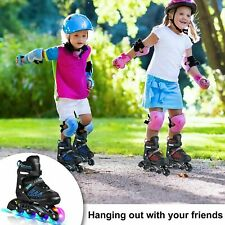 New listing Best Inline Skates for Adults Kids Teens 5 Sizes Adjustable Roller Blades -STOCK
