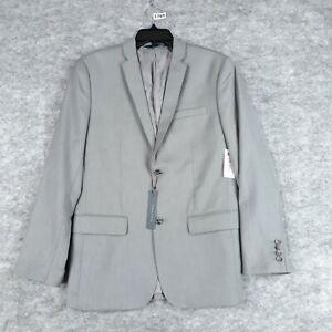Perry Ellis Blazer 38 R Men Gray Notch Lapel Jacket Lined Casual Sport Coat New