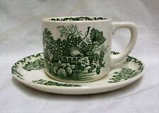 Masons Green Fruit Basket Coffee Cup & Saucer