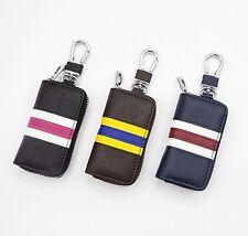 Premium Leather Car Key Chain Holder Zipper Case For Chevrolet Malibu Cruze