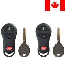 2x New Replacement Keyless Entry Remote Key Fob 64 Chip For Chrysler Dodge Ram