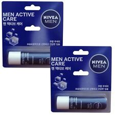 2pcs NIVEA MEN Active Care Lip Balm Stick, 4.8g추