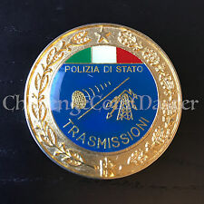 B85 Italian Polizia Police Transmission Hat Badge Medallion
