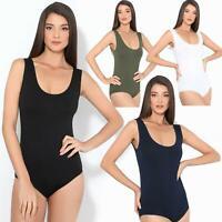 Damen Body Bodysuit Stretch Top Oberteil Lingerie Gymnastik Angebot