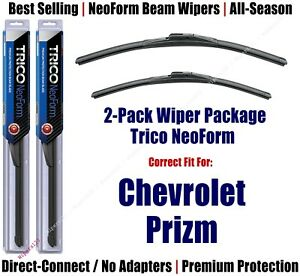 2pk Super-Premium NeoForm Wipers fit 1998-2002 Chevrolet Prizm - 16200/180