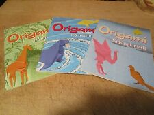 ORIGAMI set of 3:  birds & insects, sea creatures, wild animals, DOVER
