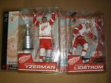 MCFARLANE NHL 6 STEVE YZERMAN NICKLAS LIDSTROM WHITE JERSEY DETROIT RED WINGS