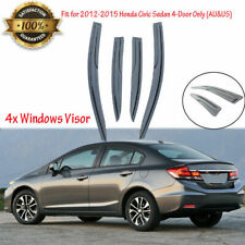 4 x Window Visors For 2012-2015 Honda Civic Sedan 4-Door Only AE26 Sunroof Guard