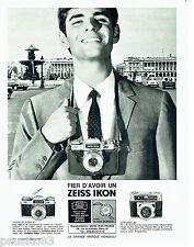 PUBLICITE ADVERTISING 076  1966  Zeiss Ikon  appareil photo Contaflex Super BC