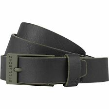 2016 NWT MENS BILLABONG BOWER BELT $25 M military mock leather logo on belt