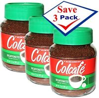 Colcafe Decaffeinated Instant Coffee 3 oz. Pack of 3
