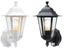 Outdoor PIR Wall Lantern Security Sensor 6 Sided Light Coach Wall Light Lantern