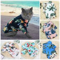 Pet Puppy Summer Shirt Small Dog Cat Clothes Vest T Shirt Beach Style Apparel