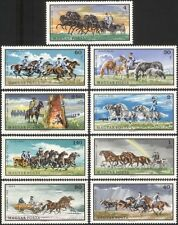 Hungary 1968 Horses/Stud/Sleigh/Animals/Nature/Transport/Rainbow 9v set (n17761)