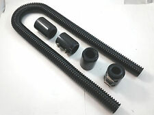"""48"""" Black Stainless Flexible Radiator Hose Kit W/ Billet Clamp Covers Chevy Ford"""