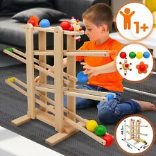 Kugelbahn aus Holz Holzspielzeug Murmelbahn Rollbahn Holzkugelbahn Kinder