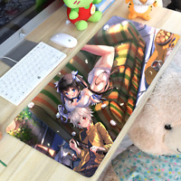 Anime Hestia ヘスティア Cosplay Mouse Mat Mouse Pad Oversize Mat Otaku Gift 40*70cm