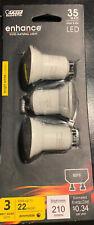 Feit Electric LED Dimmable GU10 MR11 25 Watt Bulb 120V Uses 4w 240 Lumen