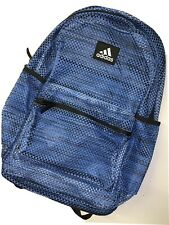 NEW Adidas Hermosa Mesh Backpack School Travel Laptop Gym Outdoor Bag Blue Black