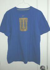 Nike Men's Blue Tee Shirt with Logo Size Xl