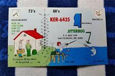"HAM CB RADIO QSL Trading Card ""MOCKINGBIRD & MAGNOLIA - HATTIESBURG MS"""