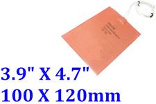 "3.9"" X 4.7"" 100 X 120mm 12V 12W Hive Save Honey Beekeeper JSRGO Flexible Heater"