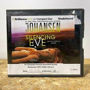 Silencing Eve by Iris Johansen Ex Library 11 CD Unabridged Audiobook Free Ship