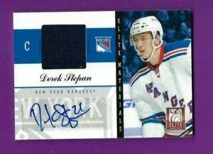 2012 Panini Elite autographed hockey card Derek Stepan New York Rangers 02/25