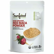 Sunfood Red Maca Powder - 8 oz FRESH, FREE SHIPPING, MADE IN USA